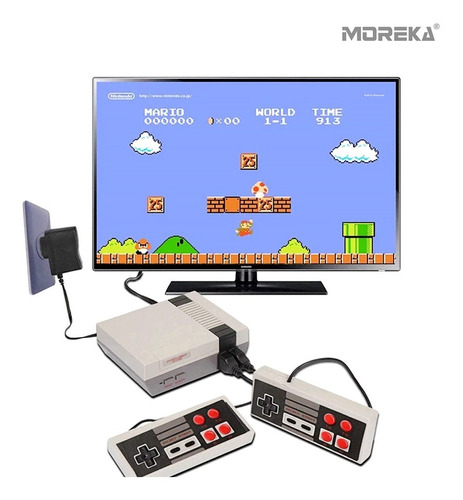 Moreka Consola Retro 620 En 1 Juegos Clásicos 2 Controles