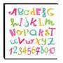 Quadro Iantil Alfabeto E Números Canvas 30x30cm Original