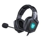 Audífonos Gamer Onikuma K8 Negro Con Luz  Rgb Led