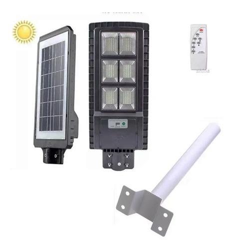 Foco Led Solar 200w Luminaria Panel Sensor + Soporte Om0011