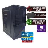 Pc Computador Cpu Intel Core I5 Ssd 240gb / 16gb Memória Ram