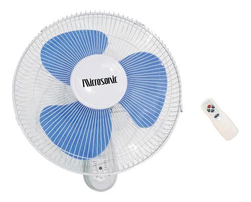 Ventilador Microsonic De Pared - 3 Aspas - C/control Remoto