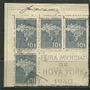 1940 - Feira Mundial De New York 4 Selos Do Bloco Rhm C155 Original