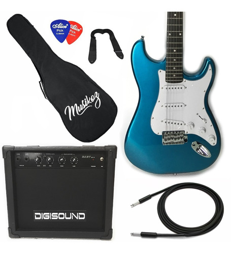 Guitarra Eléctrica Combo Strato Amplificador 15w Cuotas!