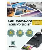 Papel Fotográfico Adhesivo Glossy 135grs Tamaño A4 50 Hojas