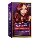 Tintura Wella Koleston Kit Permanente Rojo Exotico 5546