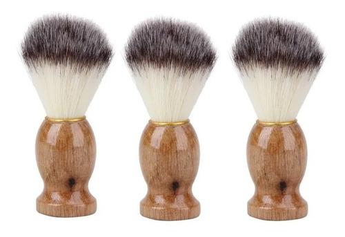 3x Brocha Hisopo De Madera Para Barba - Peluquería Barbería