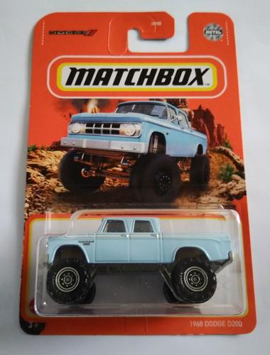 1968 Dodge D200 Y Chevy K500 Matchbox 2021 Nuevos