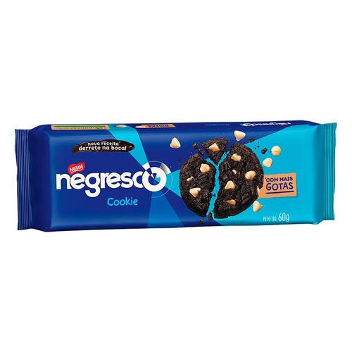 Biscoito Nestlé Negresco De Chocolate Com Gotas De Baunilha 60 G