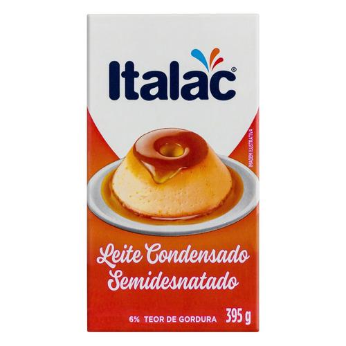 Leite Condensado Semidesnatado Italac Caixa 395g
