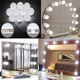 Luces Led Usb P/espejo Camarin 10 Focos Maquillaje Adhesivas