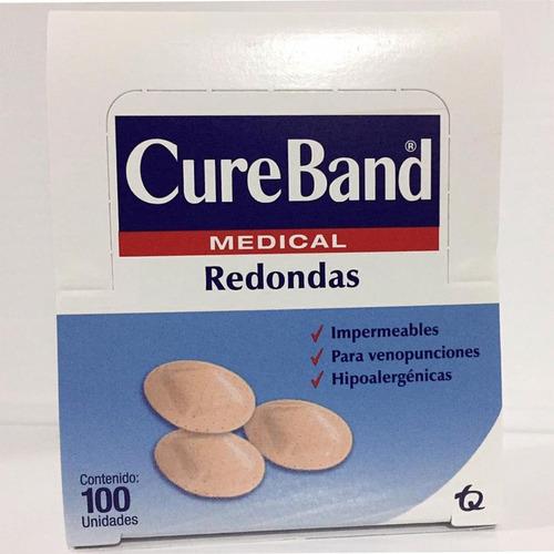 Cureband Medical Curitas Redondas 100 Pza