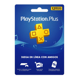 Tarjeta Playstation Psn Plus 12 Meses Usa Y Ps4 Oferta!!!
