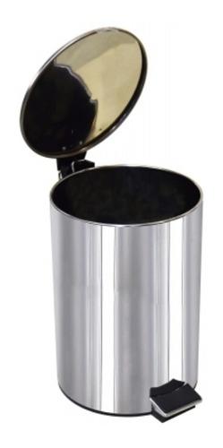 Papelera Residuos Recipiente Acero Inox 5 Litros + Balde