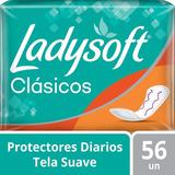 Protectores Diarios Ladysoft Clásicos 56 U