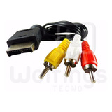 Cable A/v Audio Y Video Play Ps2 Ps3 Tv 3 Rca 1,8 Metros