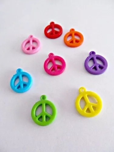 200 Unidades Dijes Simbolo De La Paz Insumos Bijouterie