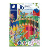 36 Lapices Colores Staedtler Incluye Sacapuntas Metalizados