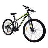 Mountain Bike Centurfit Mkz-bicialuminio R29 21v Color Amarillo Con Pie De Apoyo