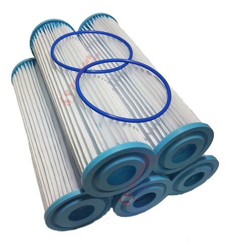 5 Cartuchos Repuesto Lavable Filtro Tipo Rotoplas Paso 1