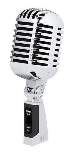 Microfono Vintage Niquelado 55sh Dinamico