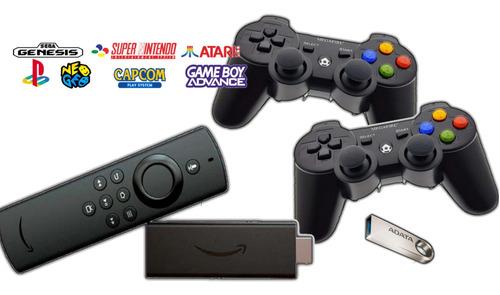 Fire Tv Lite Consola Retro 15000 Juegos 2 Gamepad Bt 64gb