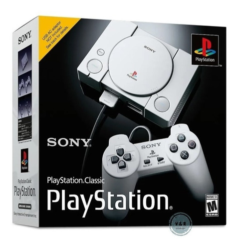 Sony Playstation Classic Scph-1000r 16gb Gris Ps1 Psone