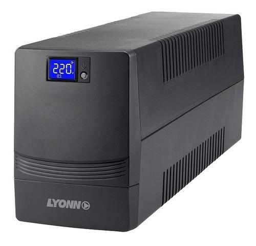 Ups Estabilizador Lyonn 800va + Soft + Usb Lcd Envio Gratis!