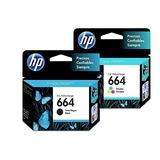 Pack 2 Cartuchos Hp 664 Negro, Color F6v29al Ink Advantage