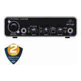 Interface De Áudio Behringer Umc22 Profissional U-phoria