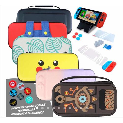 Nintendo Switch Protector Estuche Kit Accesorios Mica 16 N 1