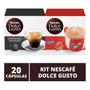 20 Capsulas Dolce Gusto, Capsula Cafe Espresso E Nescau. Original