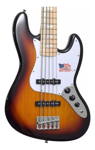 Baixo 5 Cordas Sx Jazz Bass Sjb753 Tone Sunburst Regulado!