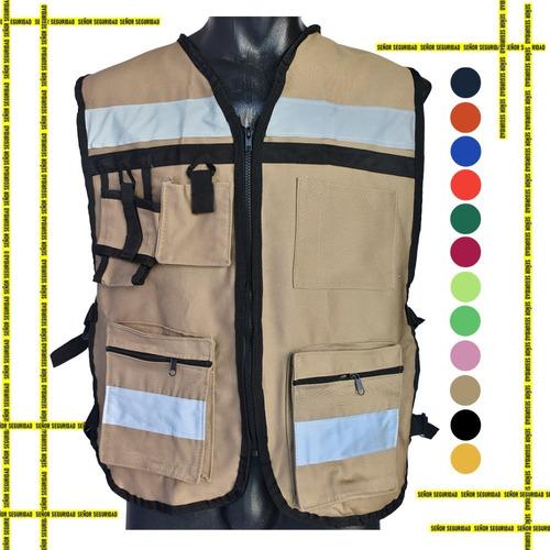 Chaleco Seguridad Industrial Brigadista Reflejante Textil