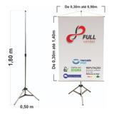 Porta Banner Aluminio Regulavel Até 1,80m Resistente Tripé