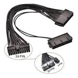 Minería Cable Adaptador Para 2 Fuentes (no Add2psu) 24pin