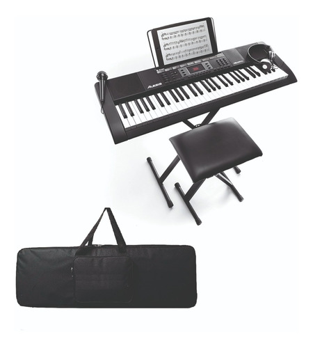 Kit Teclado Organeta Alexis Melody 61 Silla-base-audi-mic-fo