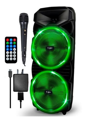 Parlante Portatil Bluetooth Microfono Luces Led Radio Fm Mp3