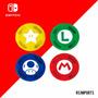 Grip Protetora Borrachinha Analogico Super Mario Switch Original