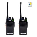 Par Radio 777s Vhf/uhf 16 Canais Comunicador Profissional