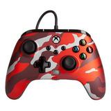 Control Joystick Powera Enhanced Wired Controller For Xbox Series X|s Metallic Red Camo