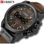 Relógio Masculino Esportivo Militar Curren Couro Luxo Promo Original