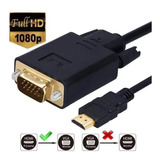 Cable Convertidor 1080p Compatible Hdmi Macho A Vga Ma