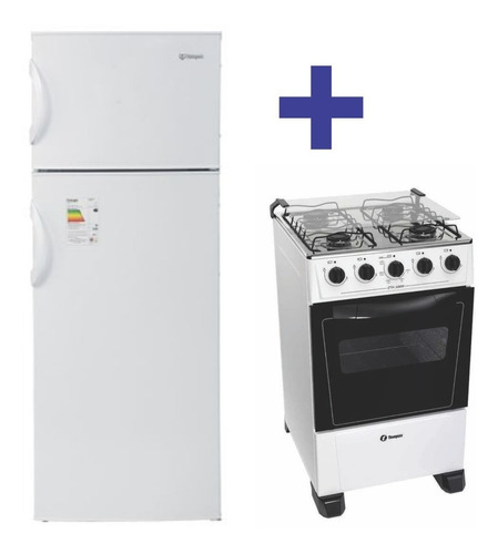 Combo Cocina 4 Hornallas + Heladera C/freezer James Thompson