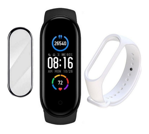 Relogio Smartwatch Xiaomi Mi Band 5 + Pulseira + Pelicula M5