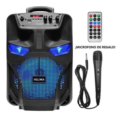 Parlante Bluetooth Velikka Micrófono Con Control Remoto