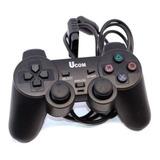 Control De Juegos Joystick Gamepad Usb Retro Turbo Pc Negro