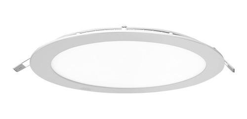 Pack X 10 Panel Led Embutir 18w Redondo Luz Fria Ahorro 80%