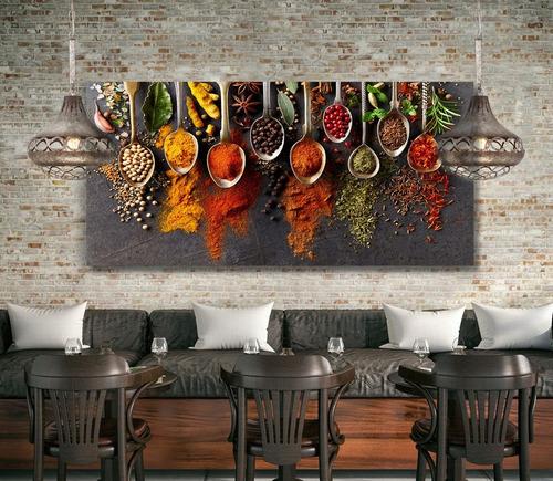 Cuadro Decorativo, Para Comedor, Semillas Y Especias