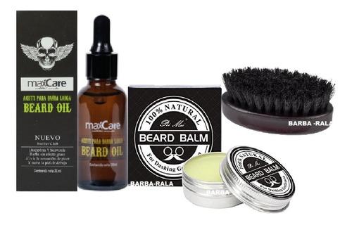 Aceite + Balsamo De Barba + Peine De Madera, Cuidado Barba